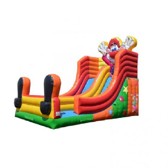 Clown Glijbaan XXL 8x4m huren